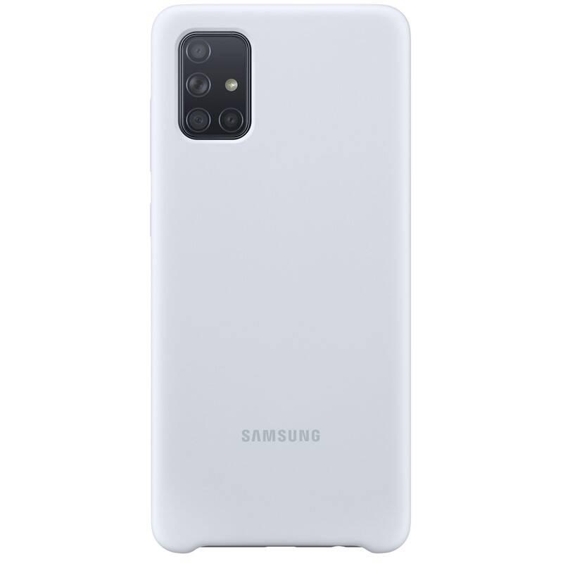 Kryt na mobil Samsung Silicon Cover pro Galaxy A71 (EF-PA715TSEGEU) strieborný