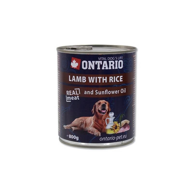 Konzerva Ontario Adult jahňacie, ryža a slnečnicový olej 800 g