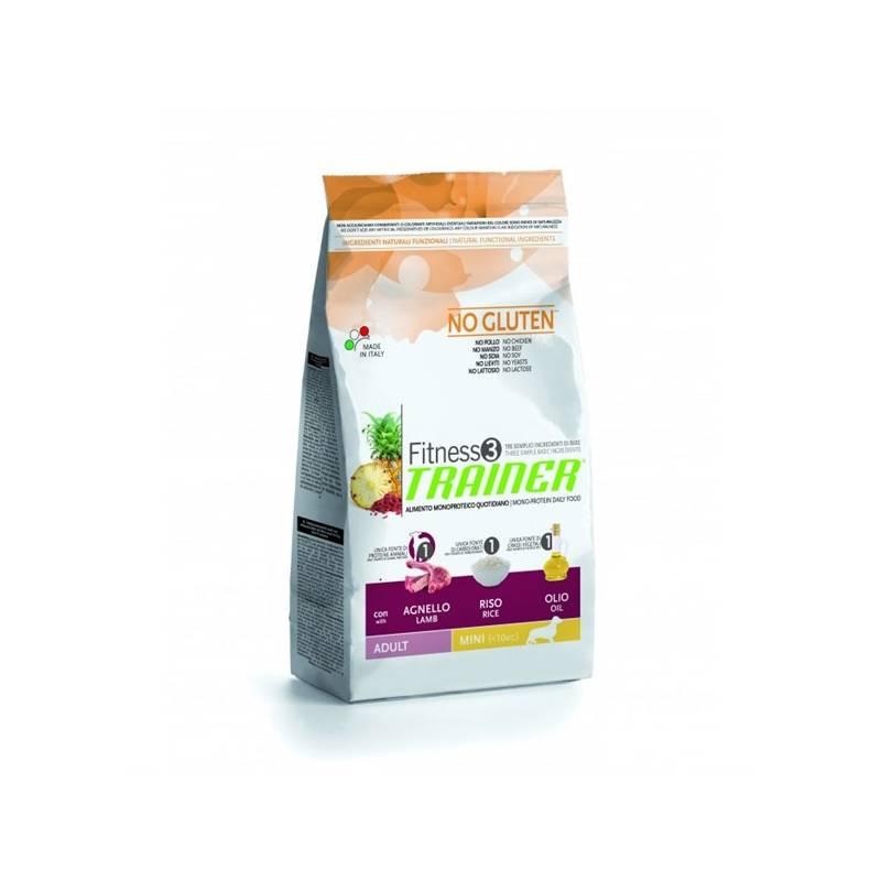 Granule Trainer Fitness 3 Adult Mini Jehně a rýže 7,5 kg Antiparazitní obojek Scalibor Protectorband pro psy - 48 cm