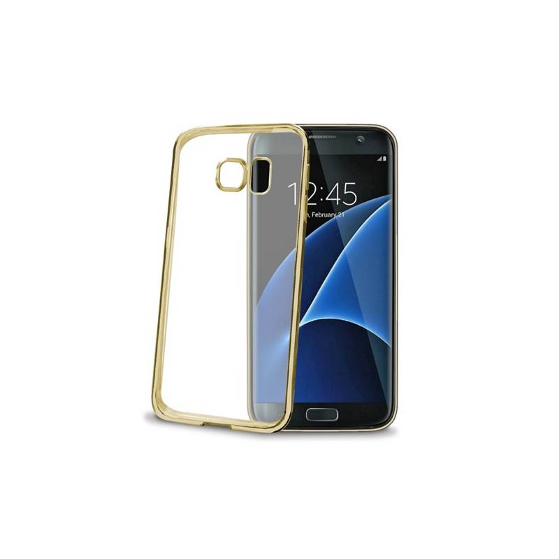 Kryt na mobil Celly Laser pro Samsung Galaxy S7 Edge (BCLS7EGD) zlatý