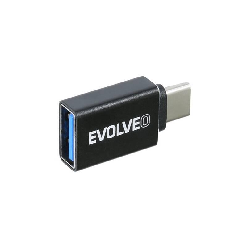 Redukcia Evolveo USB/USB-C (ADAPTER-USB-C-USB-A) čierna
