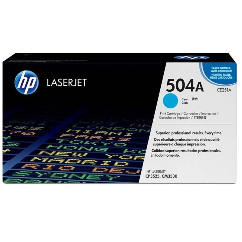 Toner HP 504A, 7000 stran (CE251A) modrý + Doprava zadarmo