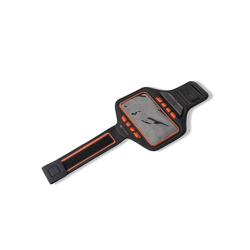 Puzdro na mobil športové 4smarts Armband Jogger LED (450856) čierny