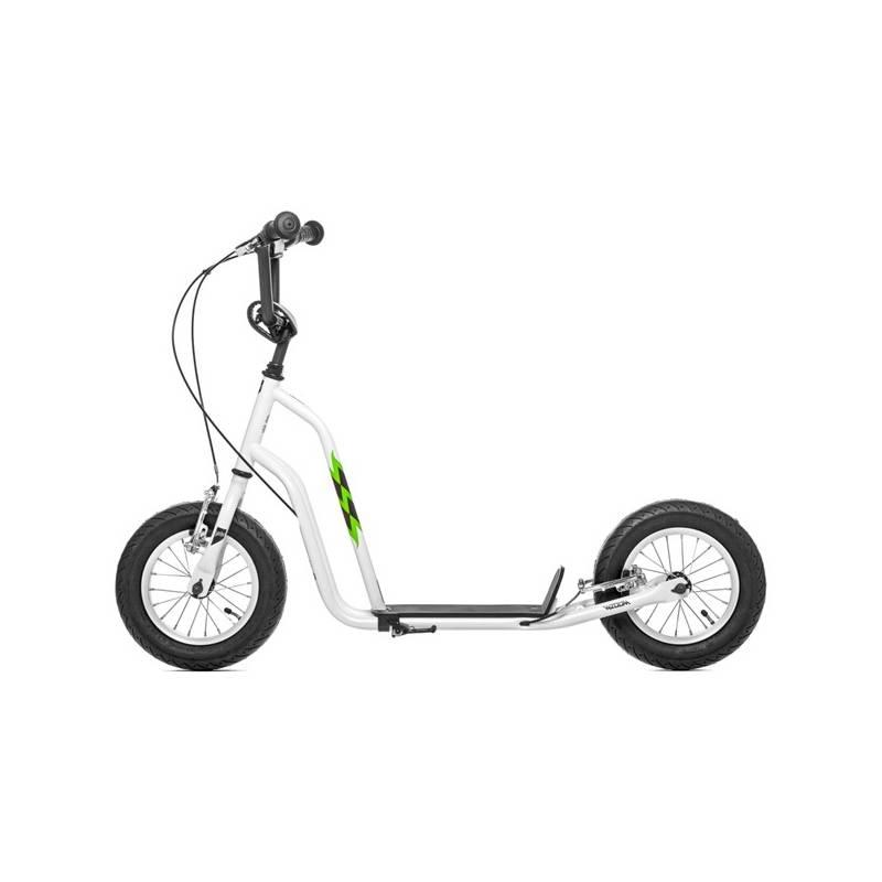 """Kolobežka Yedoo Basic Wzoom 12"""" biela + Reflexní sada 2 SportTeam (pásek, přívěsek, samolepky) - zelené v hodnote 2.80 € + Doprava zadarmo"""