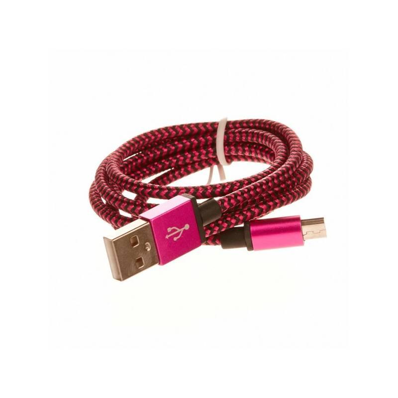 Kábel CellFish USB/micro USB, 1m (PLUSBKABELPINK) ružový