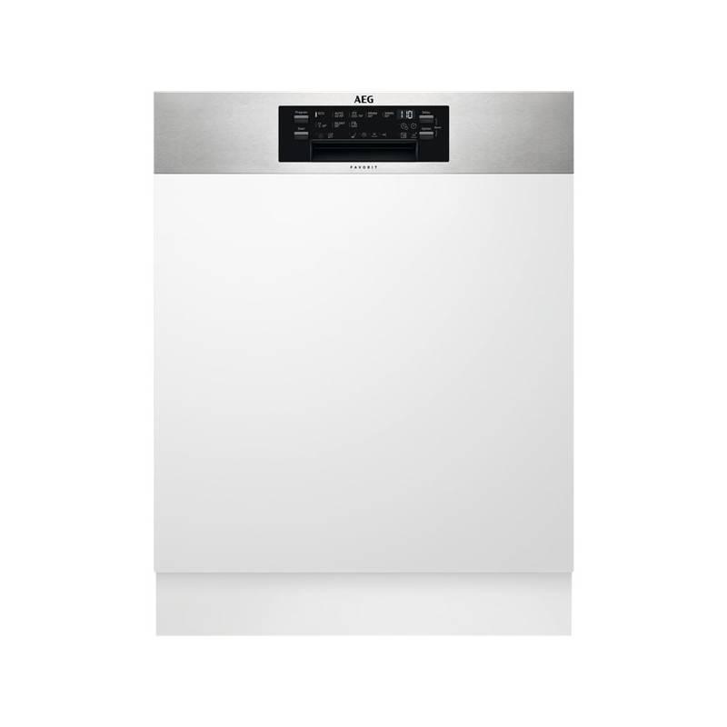 Umývačka riadu AEG FEE63716PM nerez + Cashback 60 € + Doprava zadarmo