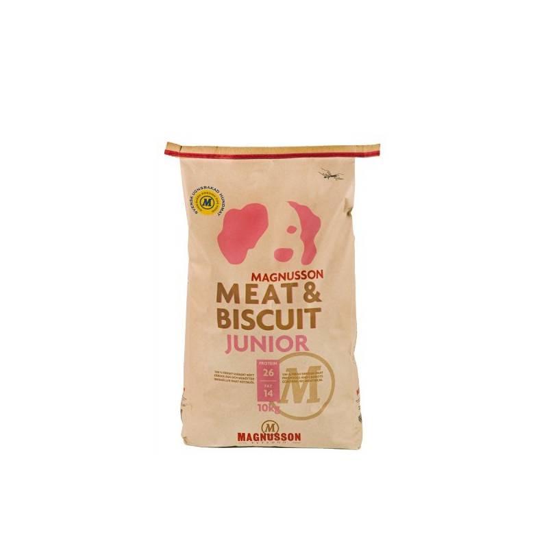 Granule Magnusson Meat & Biscuit Junior 10 kg Antiparazitní obojek Scalibor Protectorband pro psy - 48 cm