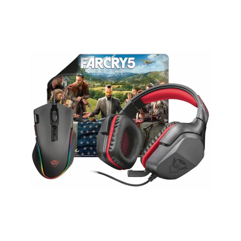 Herný set Trust GXT Gaming 3v1 (headset, myš, podložka) + Hra Far Cry 5 ZDARMA (22874)