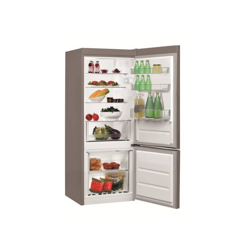 Kombinácia chladničky s mrazničkou Indesit LI6 S1 X nerez