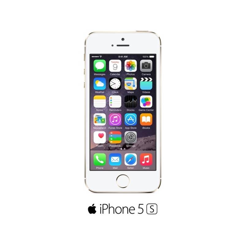 Mobilný telefón Apple iPhone 5s 32GB (ME437CS/A) zlatý + Doprava zadarmo