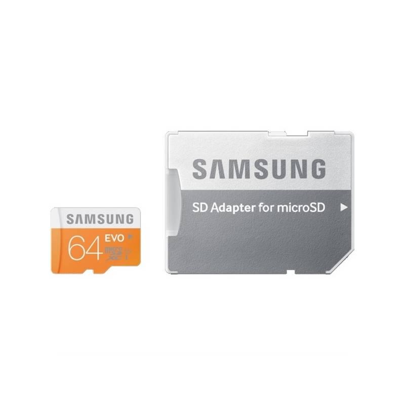Pamäťová karta Samsung Micro SDXC EVO 64GB UHS-I U1 (48R/10W) + adapter (MB-MP64DA/EU)