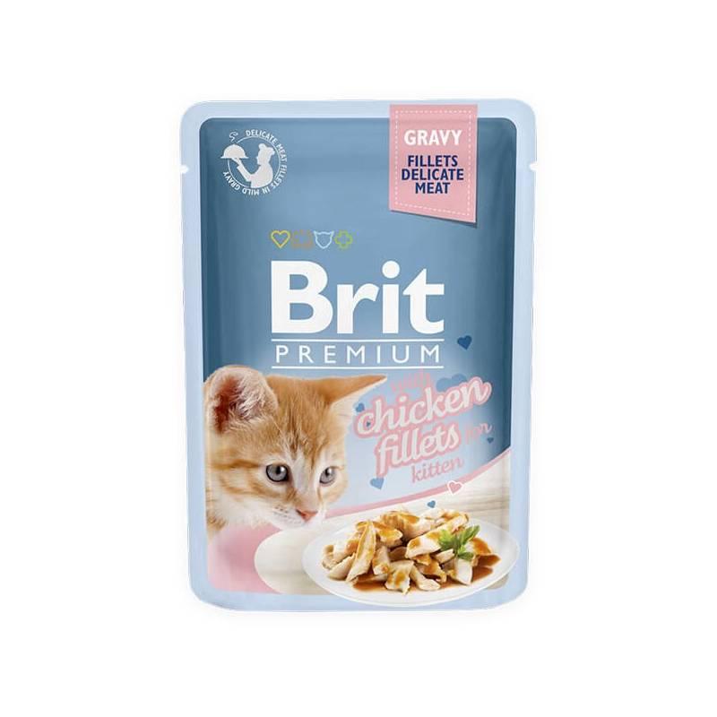 Kapsička Brit Premium Cat D Fillets in Gravy for Kitten 85 g