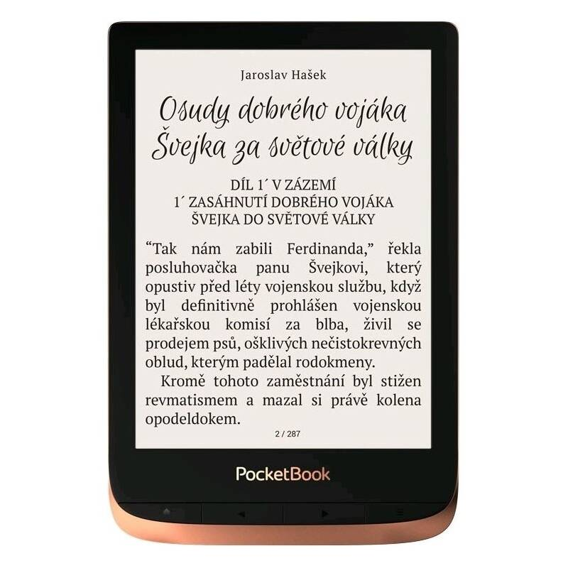 Čtečka e-knih Pocket Book 632 Touch HD - Spicy Copper (PB632-K-WW)