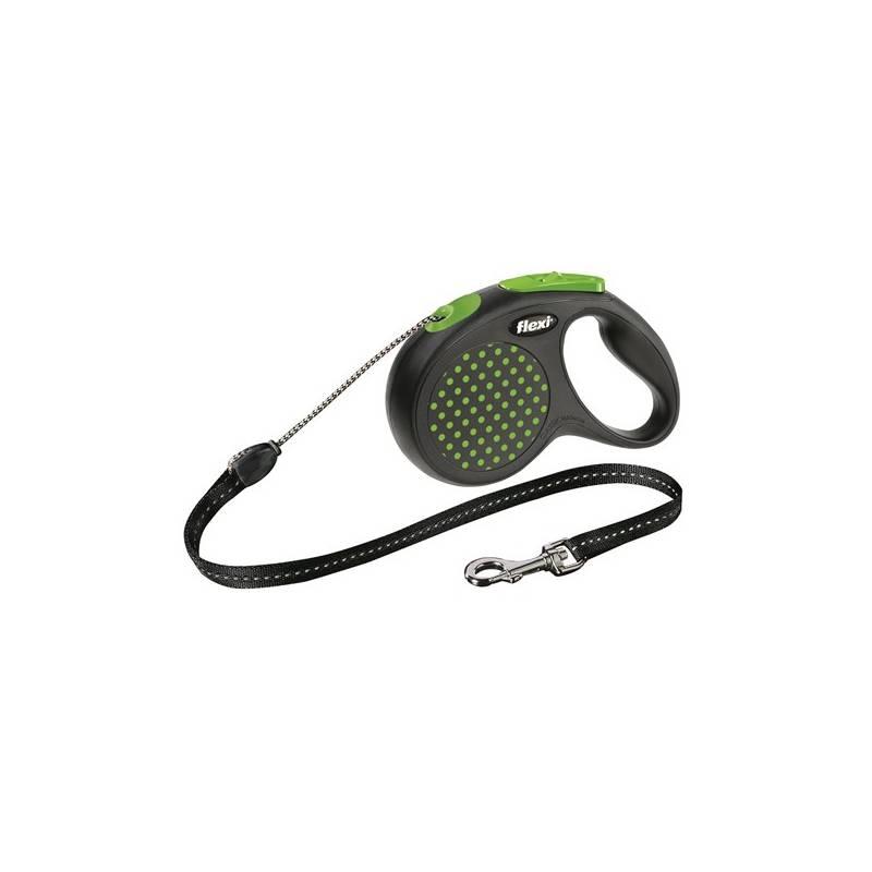 Vodítko Flexi Design M Lanko 5m/20kg zelené