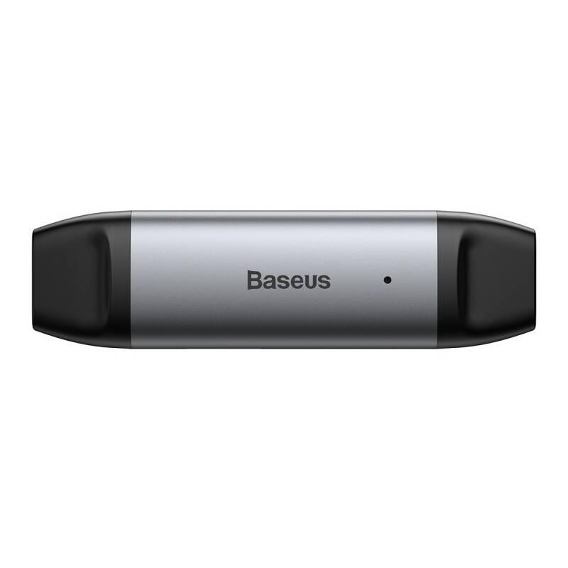 Čítačka pamäťových kariet Baseus Lentil Cabin, USB 3.0/USB-C (CADKQ-B0G) sivý
