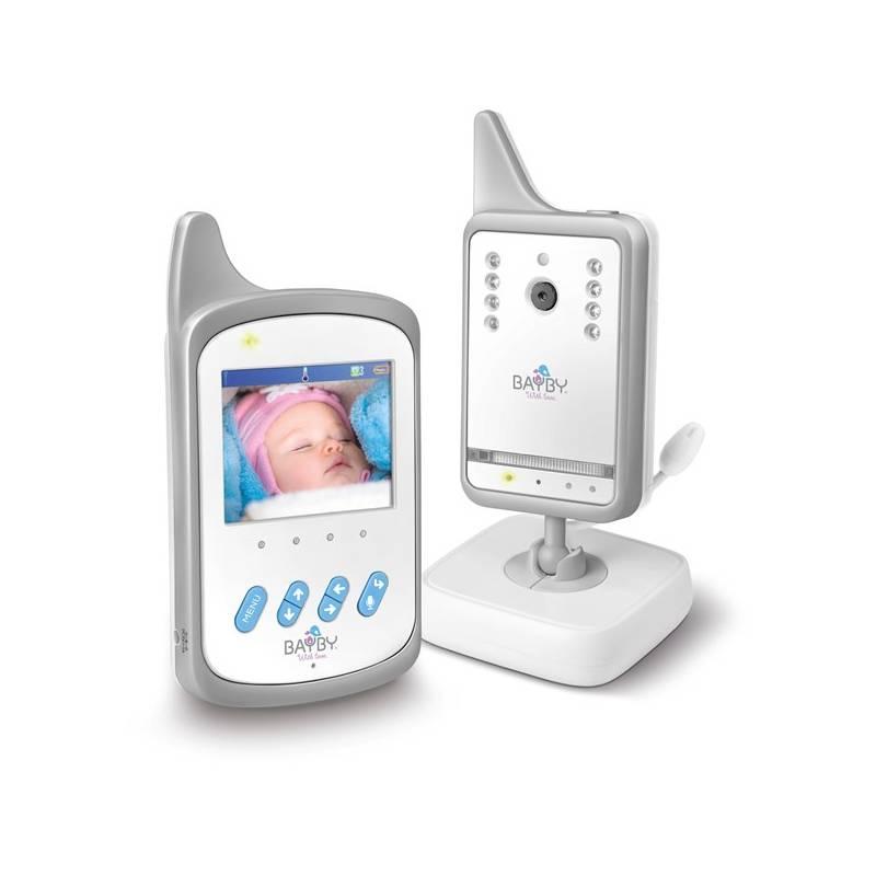 Detská elektronická pestúnka BAYBY BBM 7020 digitálna video biela + Doprava zadarmo