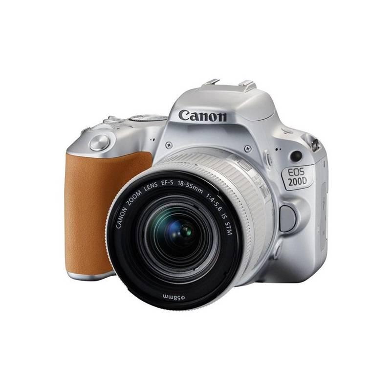 Digitálny fotoaparát Canon EOS 200D + EF18-55 IS STM (2256C001) strieborný Brašna na foto/video Canon Holster HL100 (zdarma) + Doprava zadarmo