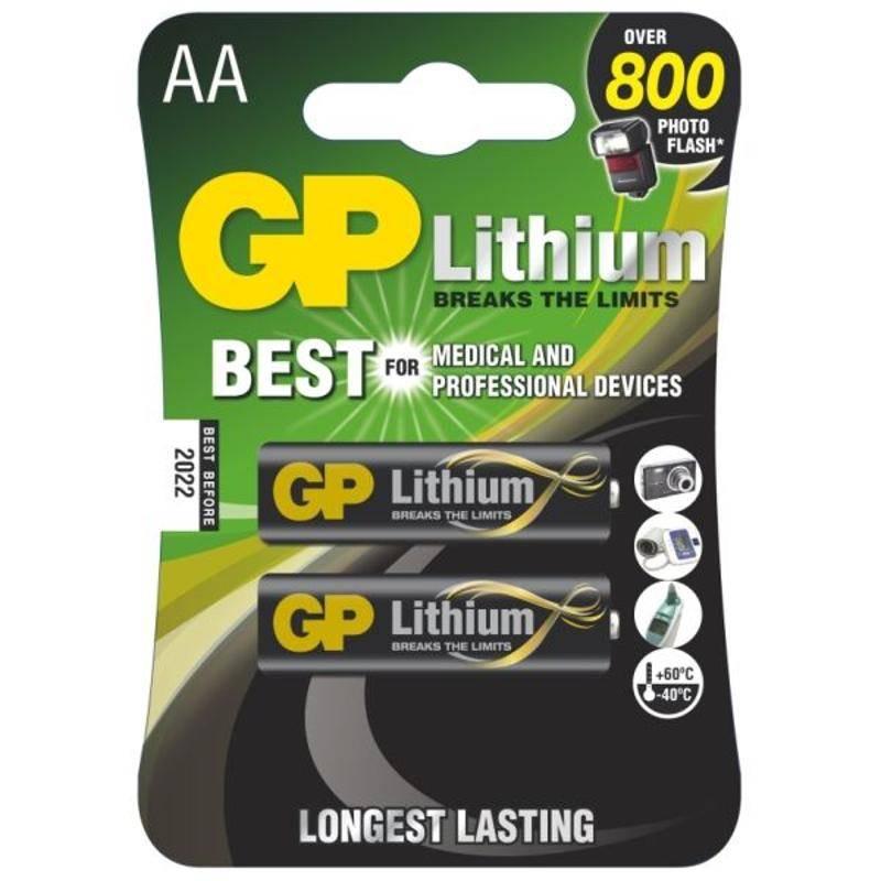 Baterie lithiová GP AA, FR06, blistr 2ks (420554)