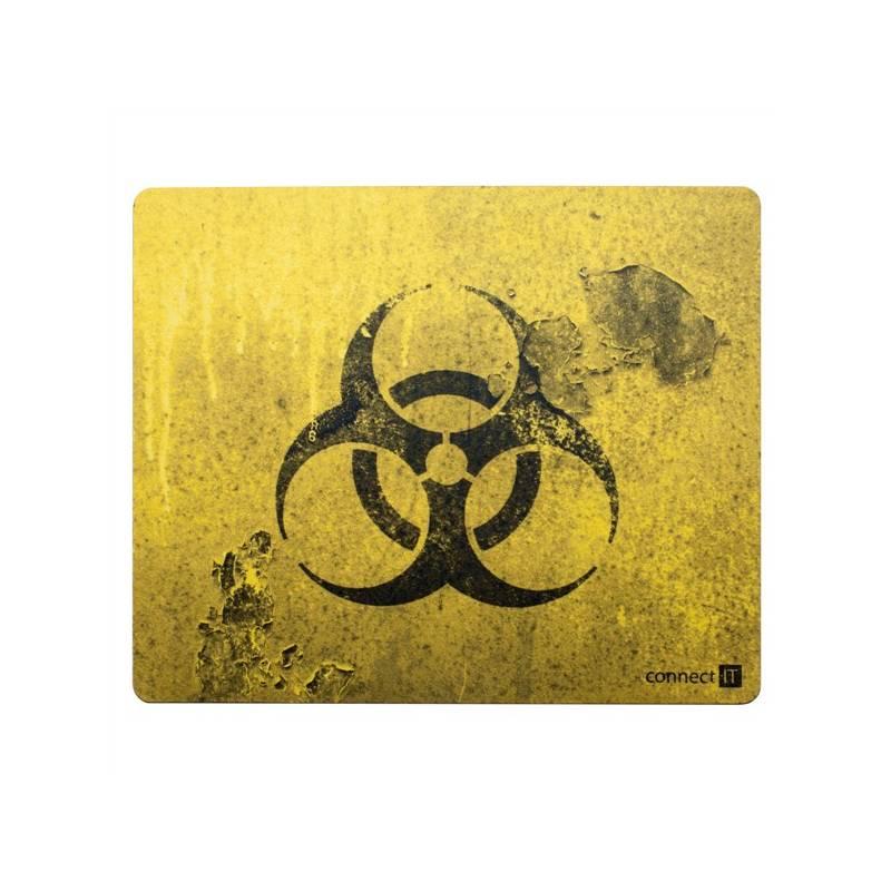 Podložka pod myš Connect IT Biohazard CI-194 (CI-194) čierna/žltá
