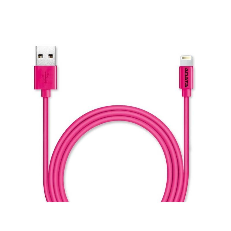 Kábel ADATA Sync & Charge USB/Lightning, 1m, MFi (AMFIPL-100CM-CPK) ružový