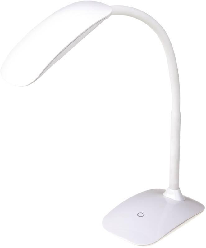 Stolní LED lampička EMOS MA66-DW stmívatelná, 7W (MA66-D-USB-WHITE) bílá