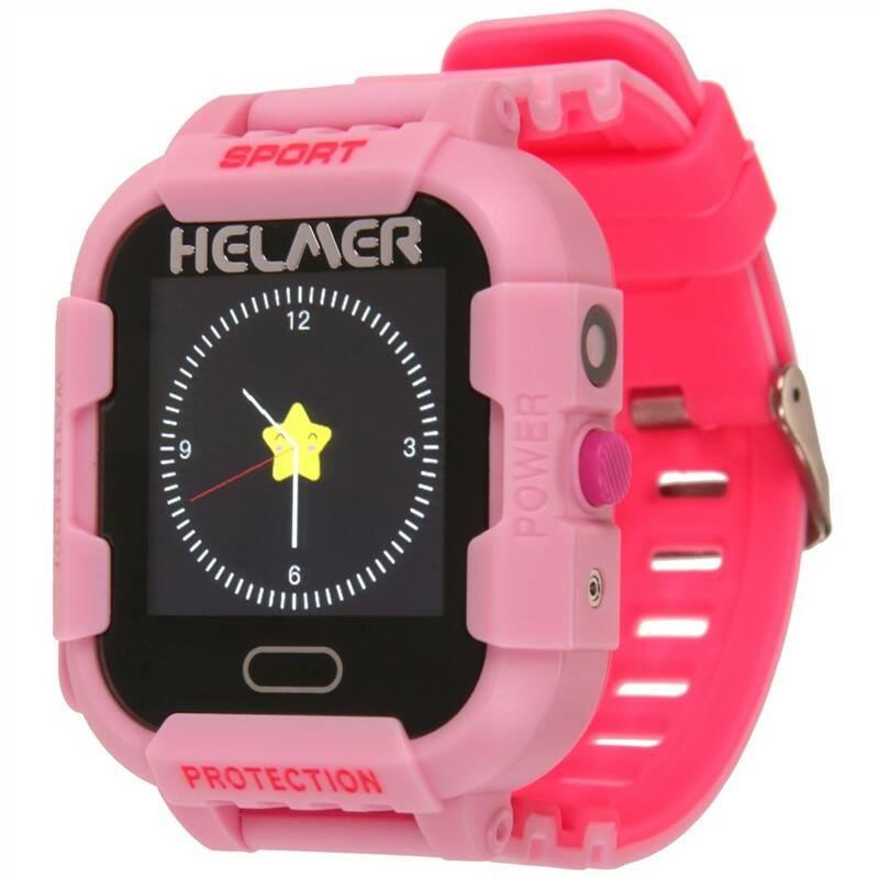 Chytré hodinky Helmer LK 708 dětské s GPS lokátorem (Helmer LK 708 P) růžový