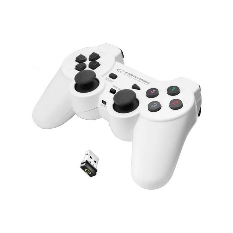 Gamepad Esperanza EGG108W Gladiator pro PC/PS3 (EGG108W - 5901299947272) biely