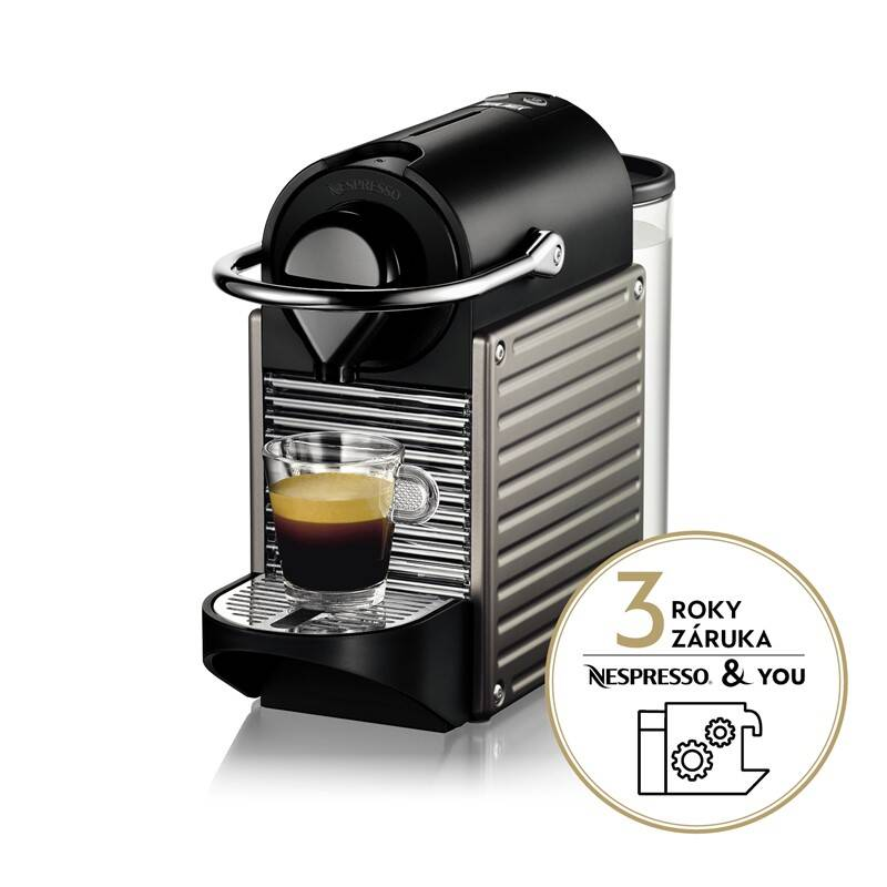 Espresso Krups Nespresso Pixie XN3005 čierne/sivé