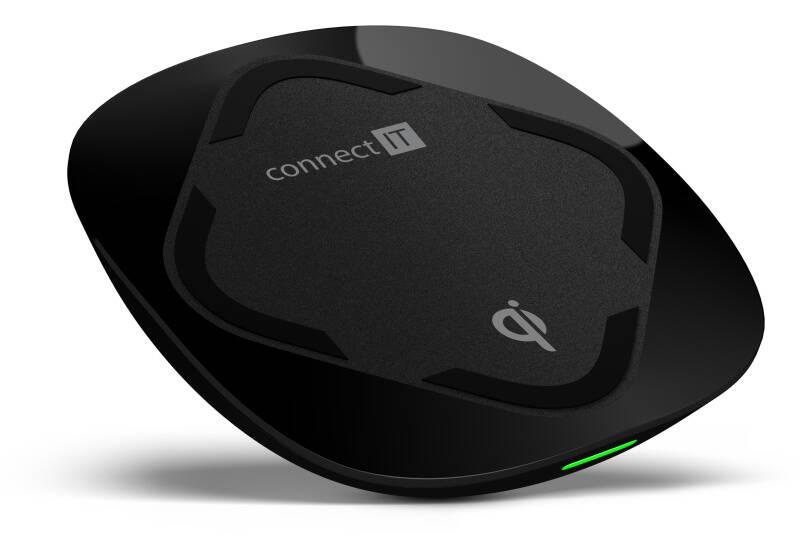 Nabíjací podložka Connect IT Qi CERTIFIED Wireless Fast Charge (CWC-7500-BK) čierna
