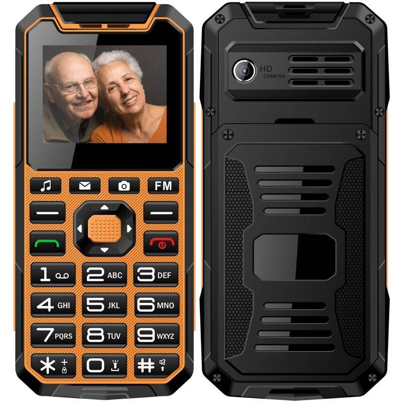 Mobilní telefon CUBE 1 S400 Senior Dual SIM (MTOSCUS400050) oranžový