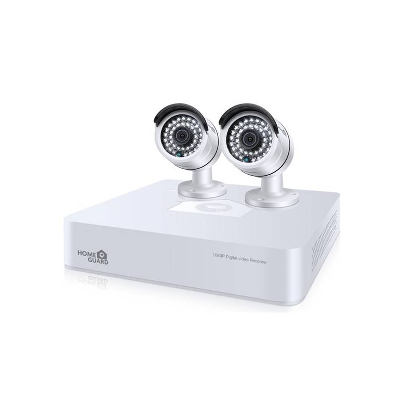 Kamerový systém iGET HOMEGUARD HGDVK47702 - 4-kanálový FullHD rekordér DVR + 2x barevná venkovní FullHD kamera 1080p (HGDVK47702) + Doprava zadarmo