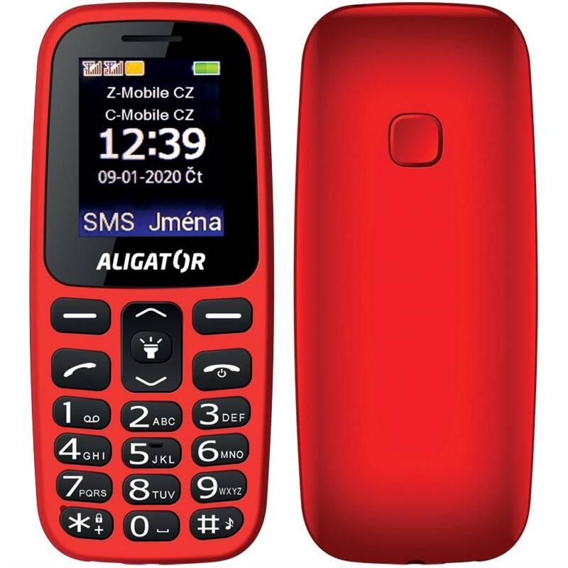 Mobilný telefón Aligator A220 Senior Dual SIM (A220RD) červený