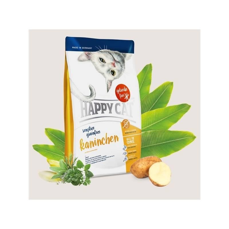 Granule HAPPY CAT SENSITIVE Grainfree Kaninchen - Králík 4 kg