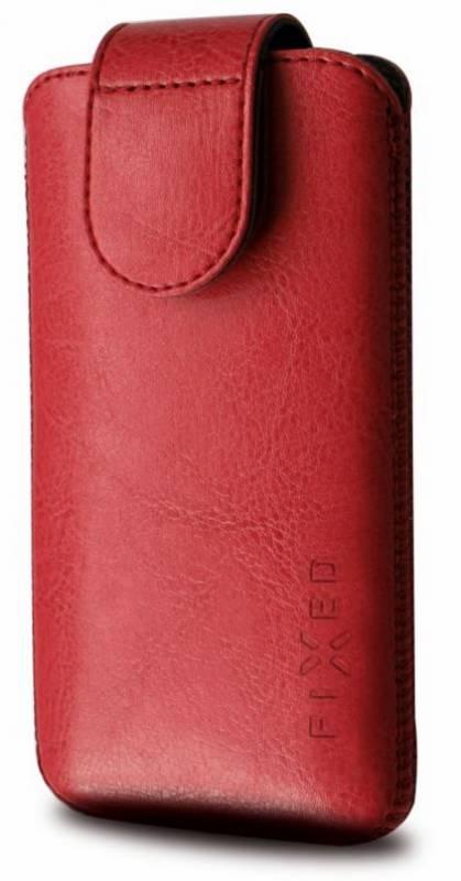 "Puzdro na mobil flipové FIXED Sarif XXL (vhodné pro 4,7"" - 5"") (RPSFM-011-XXL) červené"