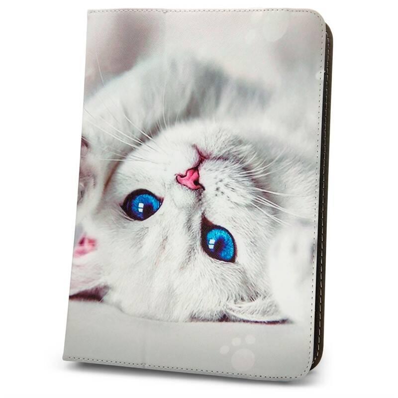 """Púzdro na tablet flipové GreenGo Cute Kitty na tablet 7-8"""" (GSM094413)"""