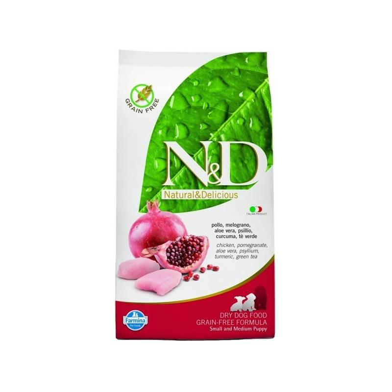 Granule N&D Grain Free DOG Adult Mini Chicken&Pomegranate 7 kg Antiparazitní obojek Scalibor Protectorband pro psy - 48 cm