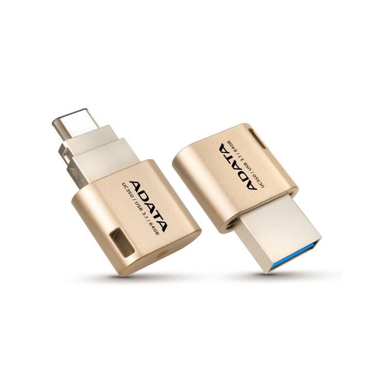 USB flash disk ADATA UC350 64GB OTG USB-C/USB 3.1 (AUC350-64G-CGD) zlatý