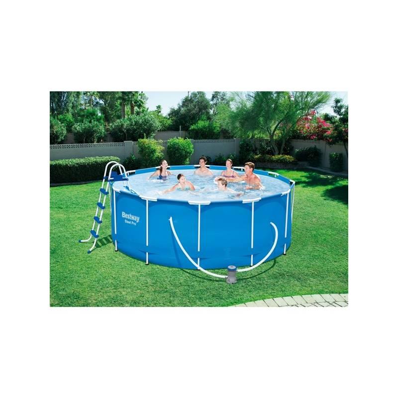 Baz n bestway steel frame pool 366 x 122 cm 56420 56420 for Garten pool 366x122