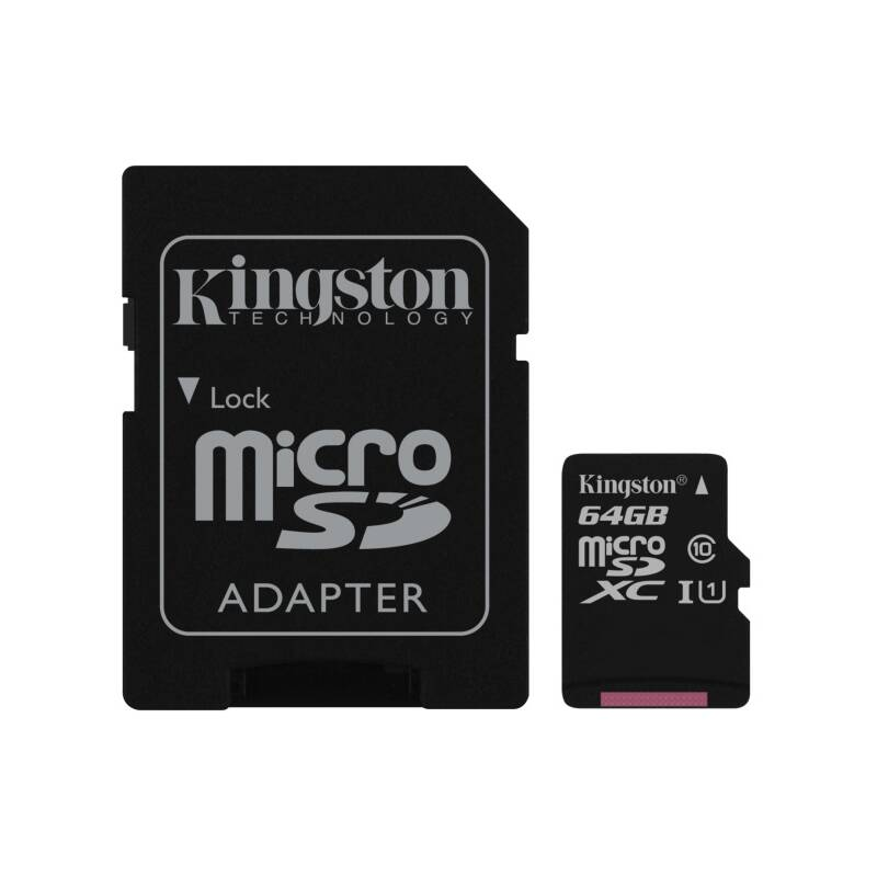 Pamäťová karta Kingston Canvas Select MicroSDXC 64GB UHS-I U1 (80R/10W) + adapter (SDCS/64GB) + Doprava zadarmo