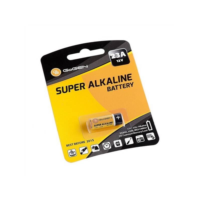 Batéria alkalická GoGEN SUPER ALKALINE 23A, blistr 1ks (GOG23AALKALINE1) čierna/oranžová