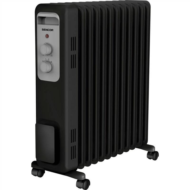 Olejový radiátor Sencor SOH 3311BK černý