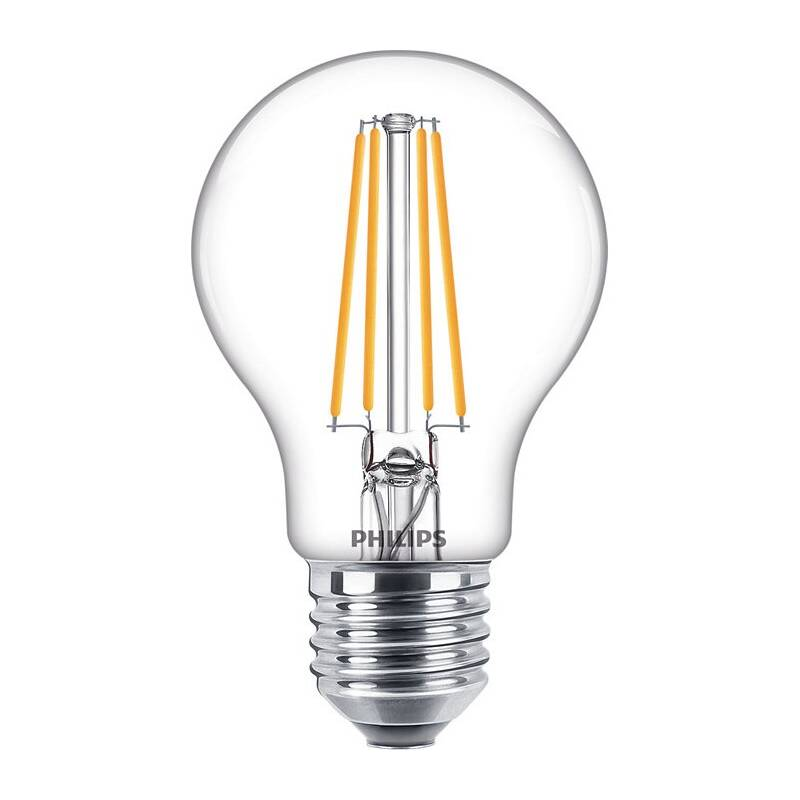 LED žiarovka Philips klasik, 7W, E27, teplá bílá (8718699777579)