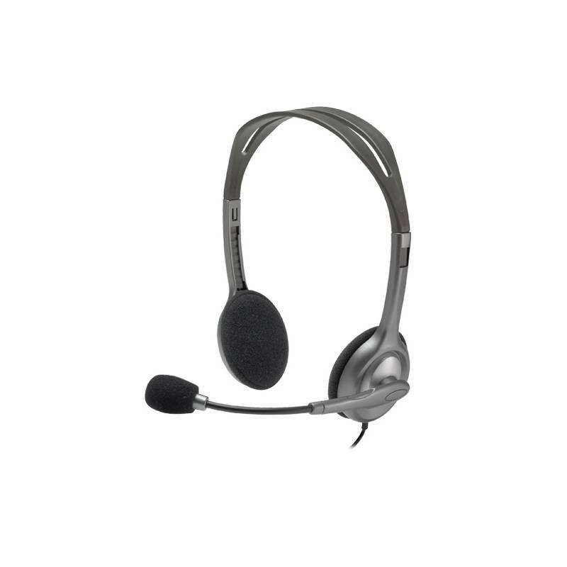 Headset Logitech H111 (981-000593) sivý