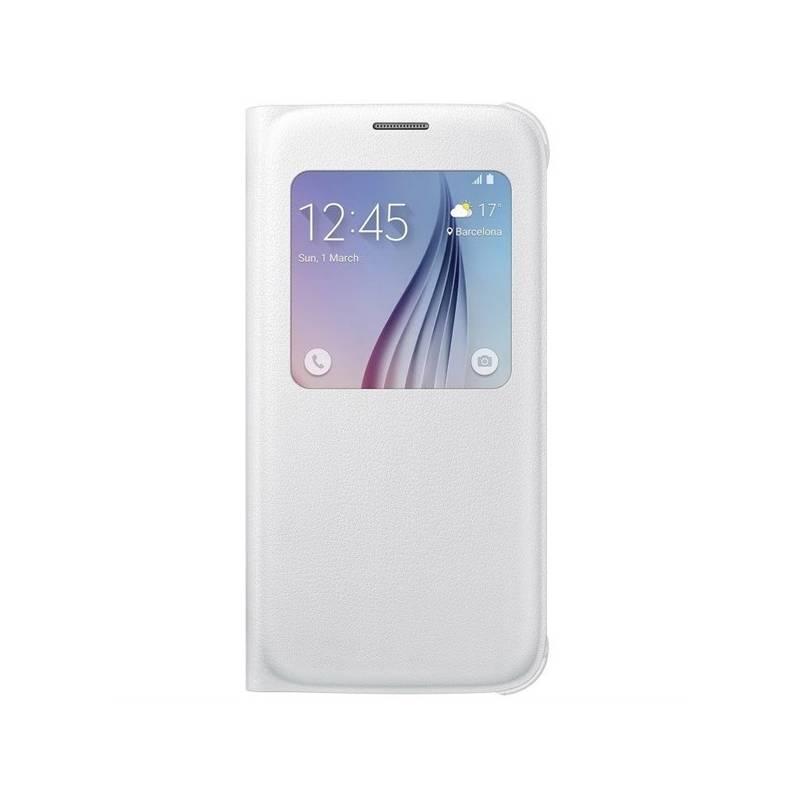Puzdro na mobil flipové Samsung S-View pro Galaxy S6 (EF-CG920PW) (EF-CG920PWEGWW) biele