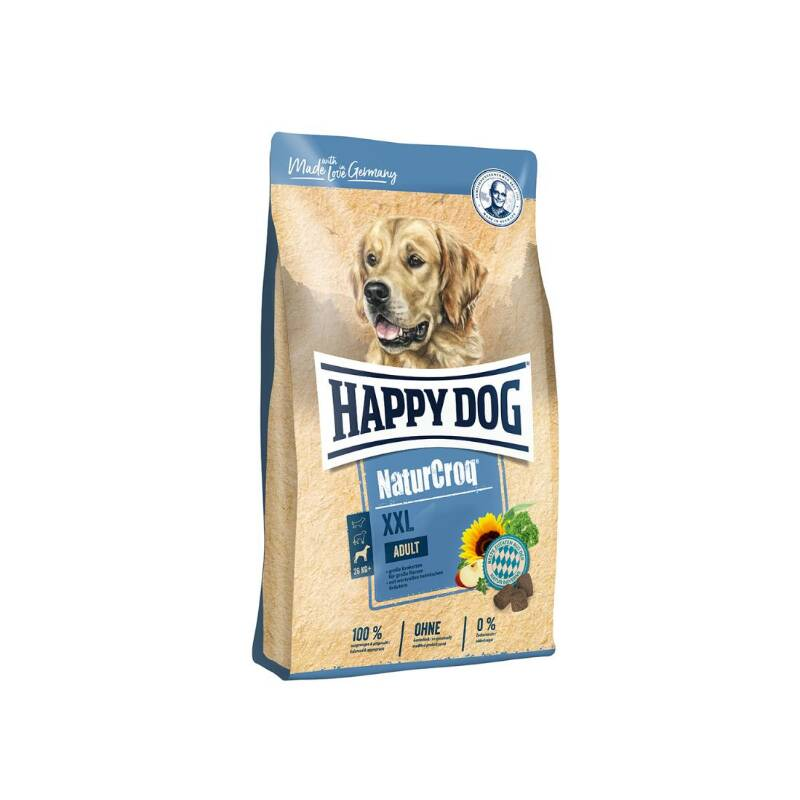 Granuly HAPPY DOG Natur-Croq ADULT XXL 15 kg HAPPY DOG pamlskovník (zdarma) + Doprava zadarmo