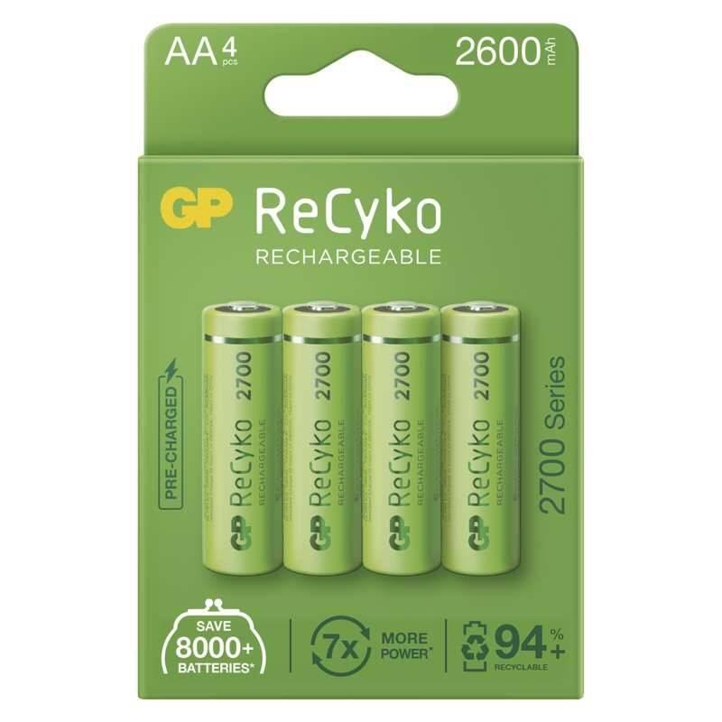 Batéria nabíjacie GP ReCyko, HR06, AA, 2600mAh, NiMH, krabička 4ks (B21274)