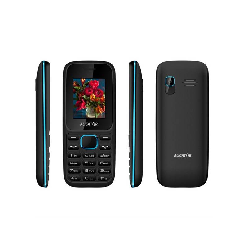 Mobilný telefón Aligator D200 Dual Sim (AD200BB) čierny/modrý