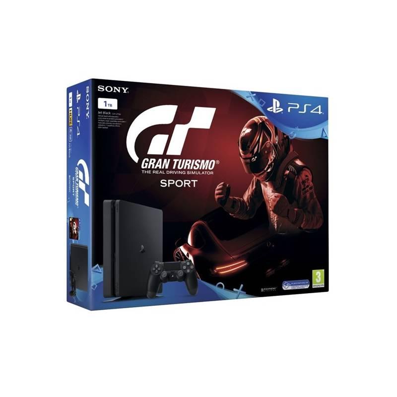 Herná konzola Sony PlayStation 4 SLIM 1TB + Gran Turismo Sport + PS Plus 14 dní (PS719907268) čierna + Doprava zadarmo