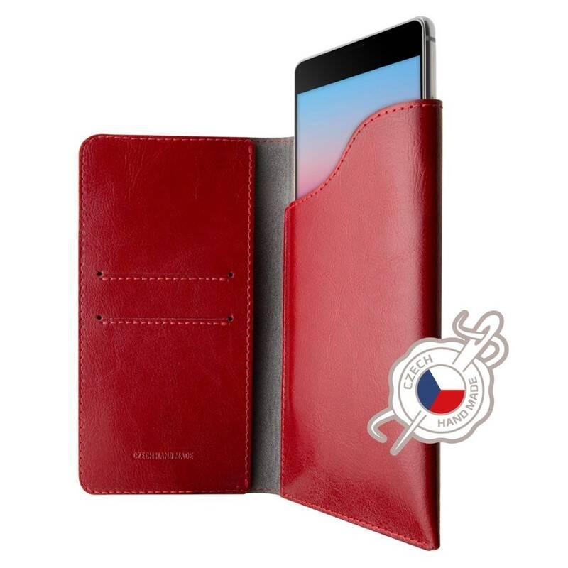 Púzdro na mobil flipové FIXED Pocket Book pro Apple iPhone 6 Plus/6s Plus/7 Plus/8 Plus/Xs Max (FIXPOB-335-RD) červené