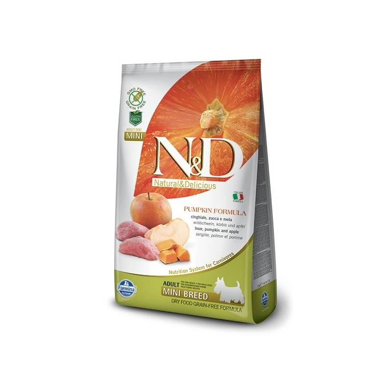 Granuly N&D Grain Free Pumpkin DOG Adult Mini Boar & Apple 7 kg